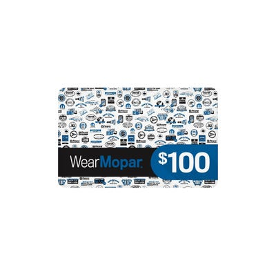$100 Wear Mopar Gift Card