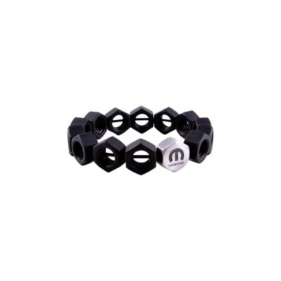 Men's Anodized Hex Nut Stretch Bracelet