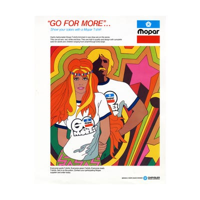"Vintage ""Go For More"" Canvas Art"