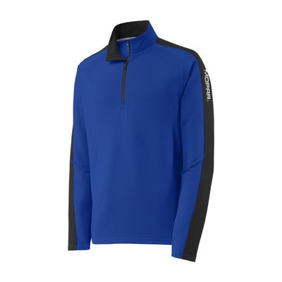 Men's Textured Colorblock 1/4 Zip Pullover