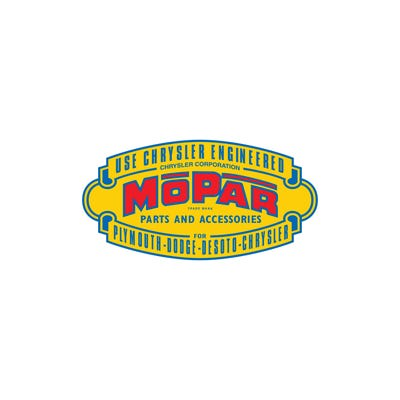 "Vintage Mopar Parts & Accessories 4"" x 2"" Decal"