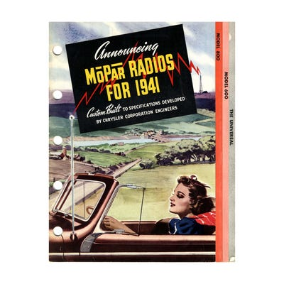 Radios for 1941 Vintage Canvas Art