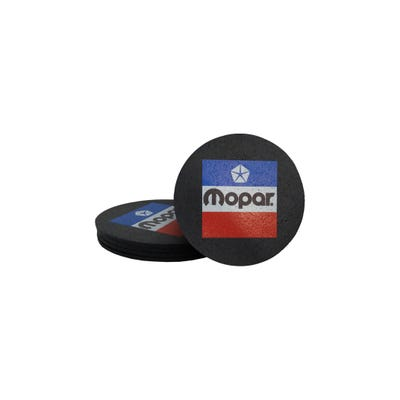 Vintage Logo Rubber Coaster Set