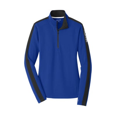 Women's Textured Colorblock 1/4 Zip Pullover