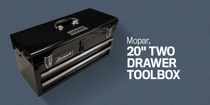 20 INCH TWO DRAWER TOOLBOX